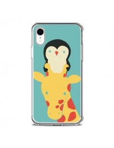 Coque iPhone XR Girafe Pingouin Meilleure Vue Better View - Jay Fleck