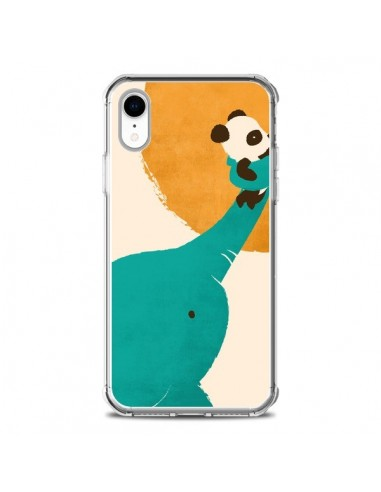 Coque iPhone XR Elephant Help Panda -...