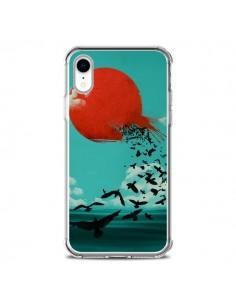 Coque iPhone XR Soleil Oiseaux Mer - Jay Fleck