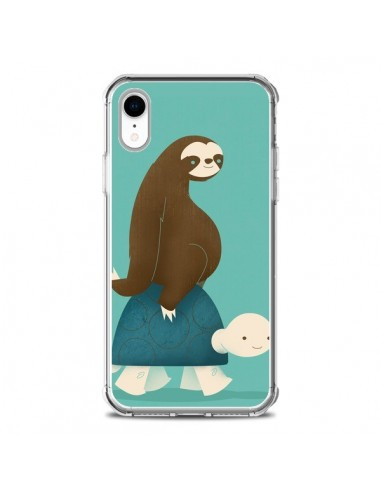 Coque iPhone XR Tortue Taxi Singe...