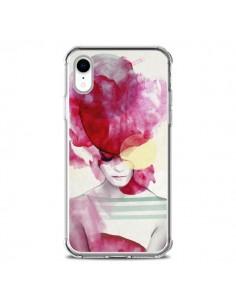 Coque iPhone XR Bright Pink Portrait Femme - Jenny Liz Rome