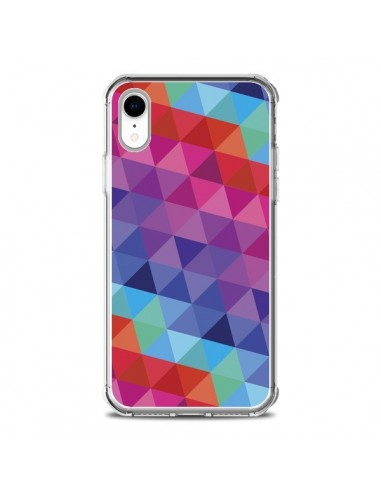 Coque iPhone XR Azteque Gheo Rose -...