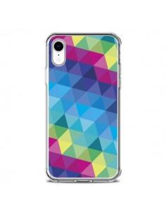 Coque iPhone XR Azteque Gheo Bleu - Javier Martinez