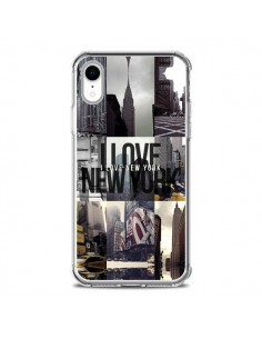 Coque iPhone XR I love New Yorck City noir - Javier Martinez