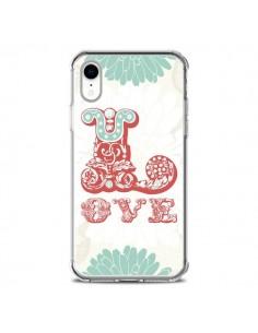 Coque iPhone XR Love Fleurs Flourish - Javier Martinez
