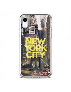 Coque iPhone XR New York City Jaune - Javier Martinez