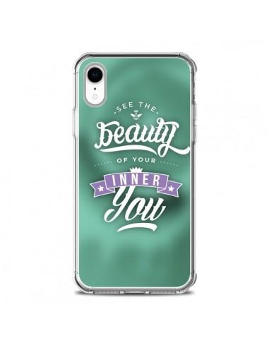 Coque iPhone XR Beauty Vert - Javier...