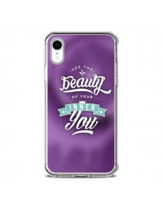Coque iPhone XR Beauty Violet - Javier Martinez
