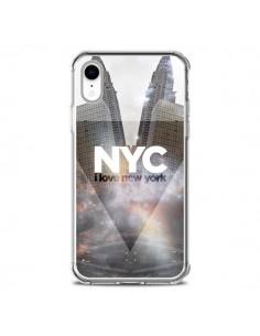 Coque iPhone XR I Love New York City Gris - Javier Martinez