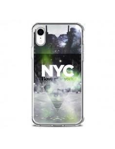 Coque iPhone XR I Love New York City Vert - Javier Martinez
