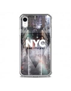 Coque iPhone XR I Love New York City Violet - Javier Martinez