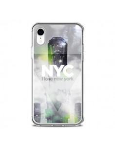 Coque iPhone XR I Love New York City Gris Vert - Javier Martinez