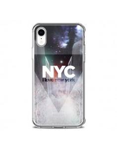Coque iPhone XR I Love New York City Bleu - Javier Martinez