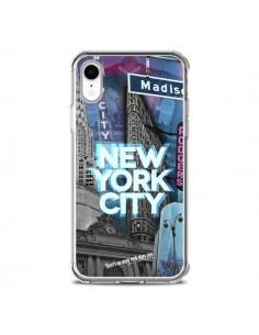 Coque iPhone XR New York City Buildings Bleu - Javier Martinez
