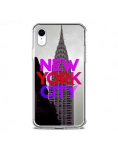 Coque iPhone XR New York City Rose Rouge - Javier Martinez