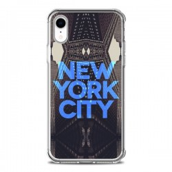 Coque iPhone XR New York City Bleu - Javier Martinez