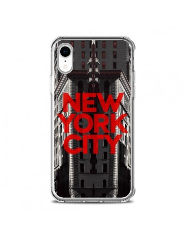 Coque iPhone XR New York City Rouge -...