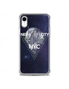 Coque iPhone XR New York City Triangle Vert - Javier Martinez