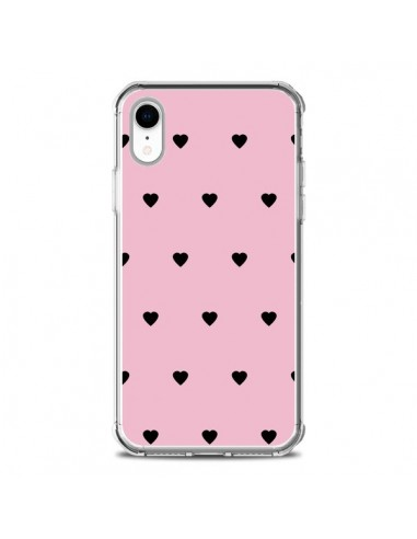 Coque iPhone XR Coeurs Roses -...
