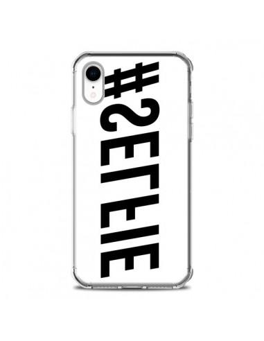Coque iPhone XR Hashtag Selfie Noir Inversé Horizontal - Jonathan Perez