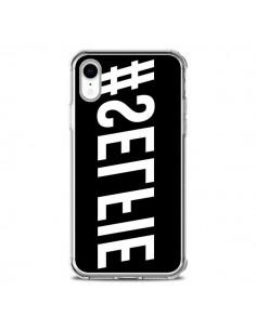 Coque iPhone XR Hashtag Selfie Blanc Inversé Horizontal - Jonathan Perez