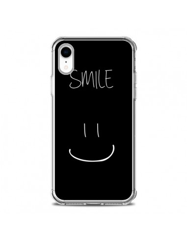 Coque iPhone XR Smile Souriez Noir - Jonathan Perez