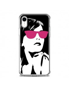 Coque iPhone XR Fille Lunettes Roses - Jonathan Perez