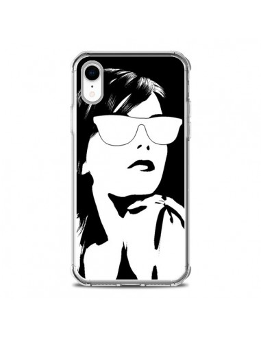 Coque iPhone XR Fille Lunettes...