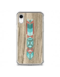 Coque iPhone XR Totem Tribal Azteque Bois Wood - Jonathan Perez