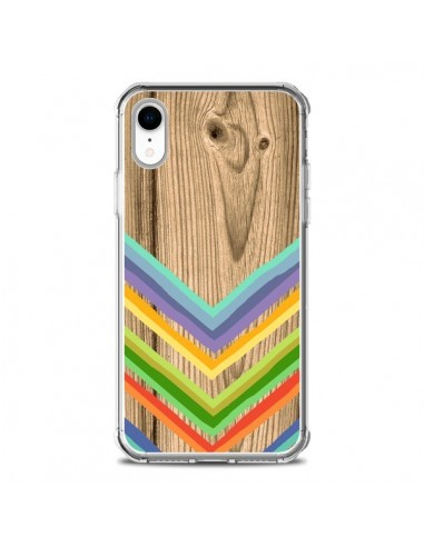 Coque iPhone XR Tribal Azteque Bois...