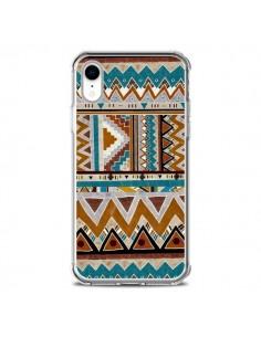 Coque iPhone XR Azteque Vert Marron - Kris Tate