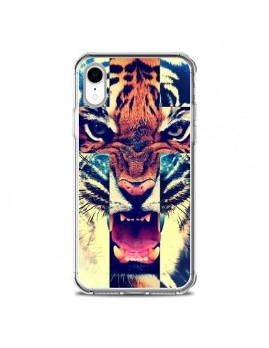 Coque iPhone XR Tigre Swag Croix Roar...