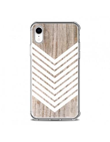 Coque iPhone XR Tribal Aztèque Bois...