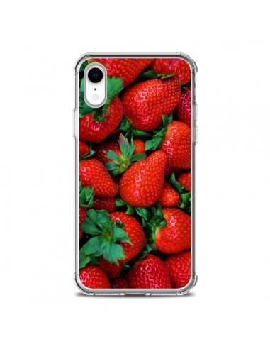 Coque iPhone XR Fraise Strawberry...