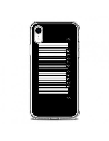 Coque iPhone XR Code Barres Blanc - Laetitia