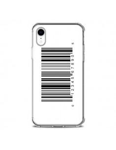 Coque iPhone XR Code Barres Noir - Laetitia