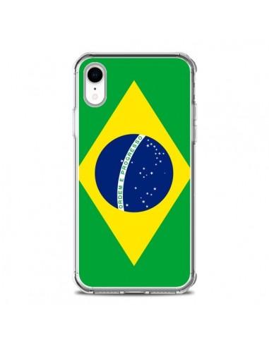 Coque iPhone XR Drapeau Brésil...
