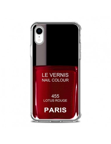 Coque iPhone XR Vernis Paris Lotus...