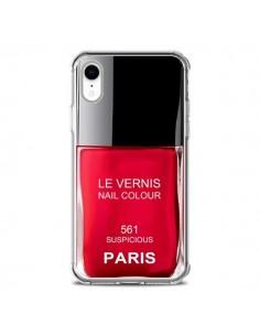 Coque iPhone XR Vernis Paris Suspicious Rouge - Laetitia
