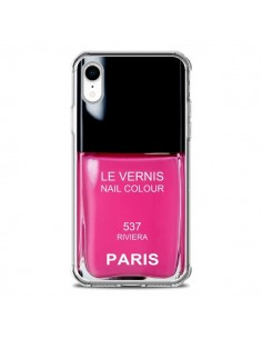 Coque iPhone XR Vernis Paris Riviera Rose - Laetitia
