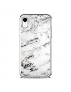 Coque iPhone XR Marbre Marble Blanc White - Laetitia