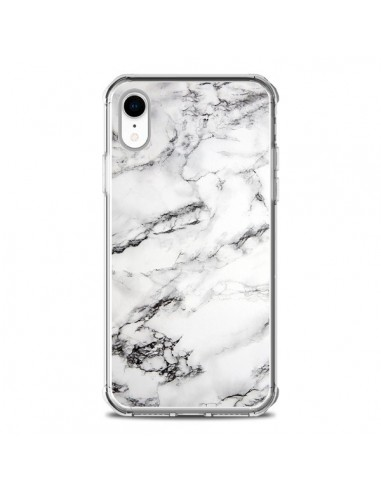 Coque iPhone XR Marbre Marble Blanc...