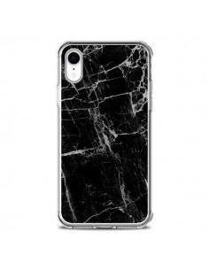 Coque iPhone XR Marbre Marble Noir Black - Laetitia