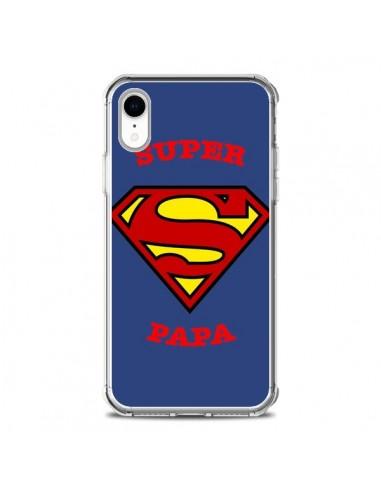 Coque iPhone XR Super Papa Superman -...