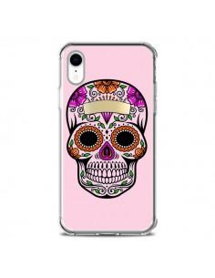 Coque iPhone XR Tête de Mort Mexicaine Rose Multicolore - Laetitia