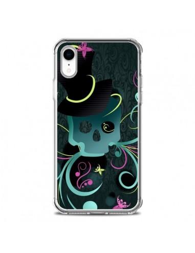 Coque iPhone XR Tête de Mort Papillon Skull - LouJah