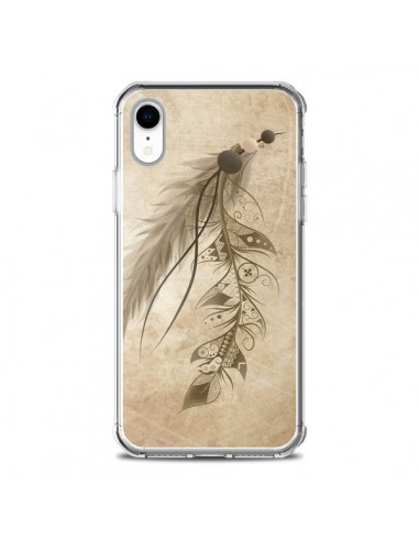 Coque iPhone XR Bohemian Feather...