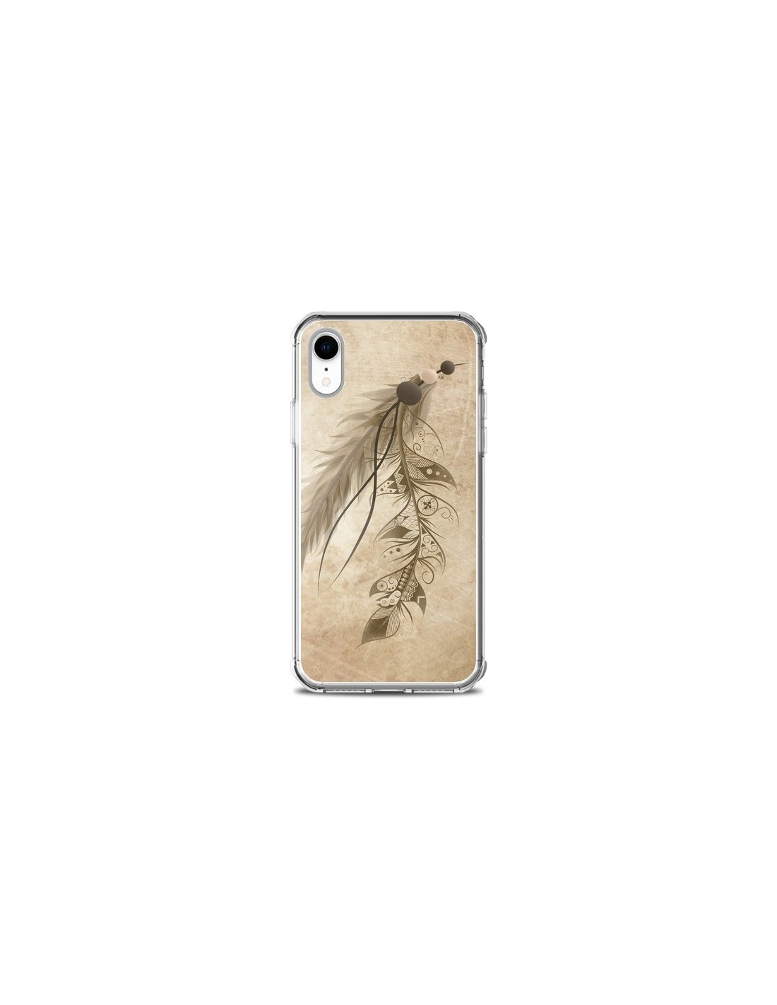 coque iphone xr plume