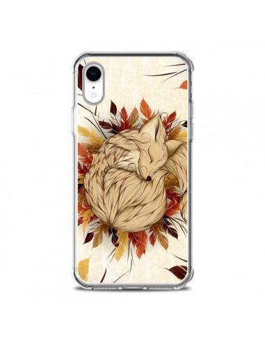 Coque iPhone XR Night Fall Renard...