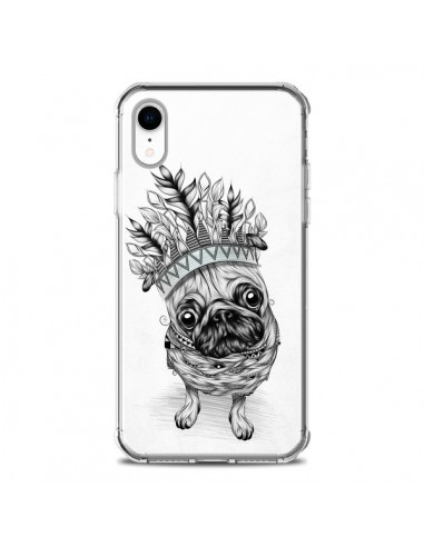 Coque iPhone XR Indian Dog Chien Indien Chef Couronne - LouJah